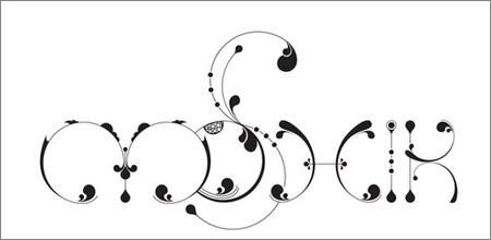 シンプル、2Dタイポグラフィ
