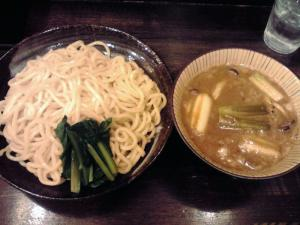 綿麺 フライデーナイト Part43 (13/4/26) 焼きネギとしめじの豚骨味噌つけ麺