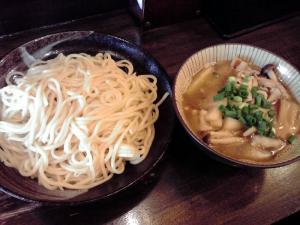 綿麺 フライデーナイト Part45 (13/5/24) 焼きネギとしめじの豚しゃぶつけ麺
