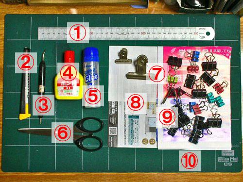 豆本の作り方1.作業道具