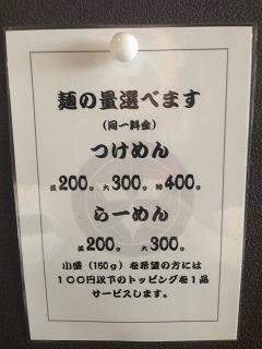 麺絆 英 麺量