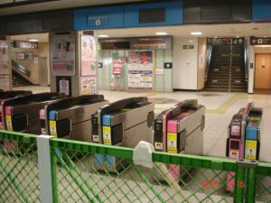 昨日までの東急東横線渋谷駅