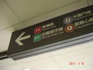 東急東横線の案内板