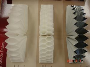 セリーナセルラーシェードの3種類あるハニカムプリーツ