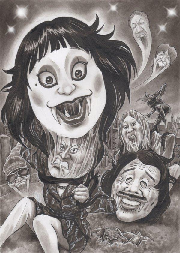日本エレキテル連合 波田陽区 ねずっち レイザーラモンHG 風刺漫画