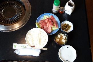 上カルビ定食①
