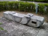 JR弘前駅 花のベンチ