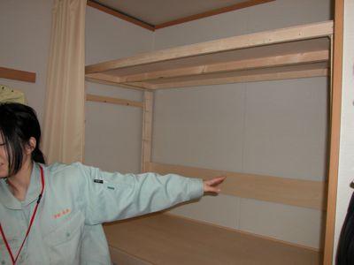 木製棚設置完了