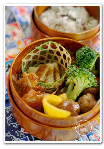 豚こま肉団子と彩り野菜のピリ辛炒め弁当