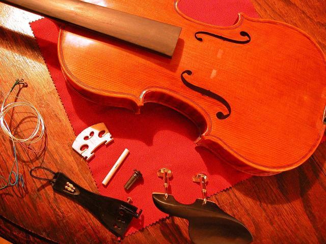 子供用分数バイオリンの再調整