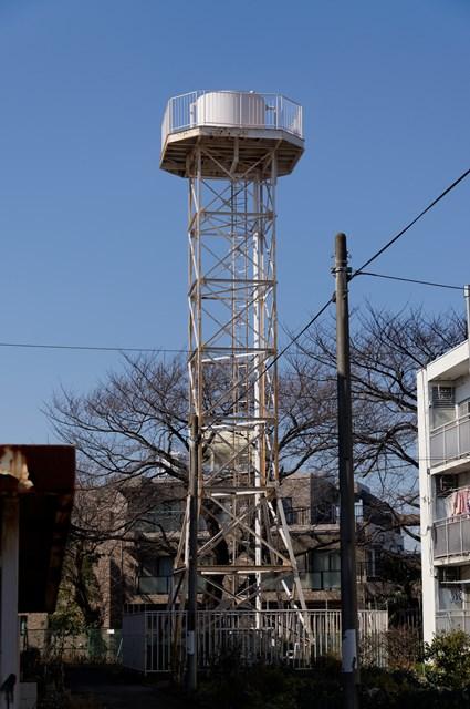 神奈川県営柏尾団地の給水塔