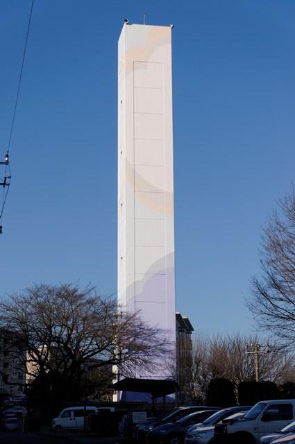 公団宮向団地の給水塔