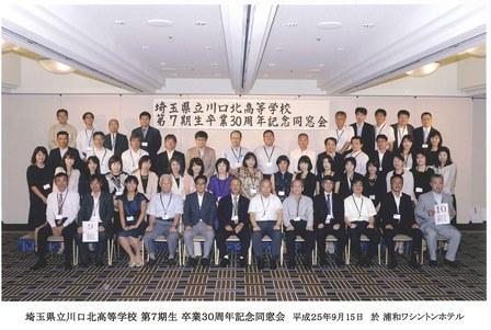 県立川口北高校7期生同窓会WEB