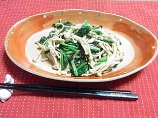 エノキ青菜炒め1