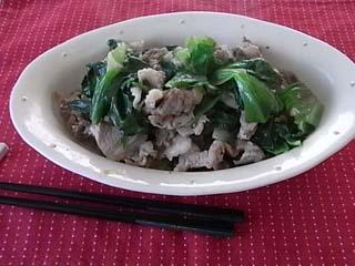 豚レタス炒め1