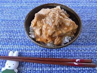親子エノキ丼1