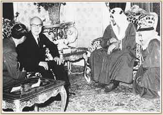 サウード国王に謁見する山下太郎