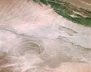 ロプノルの衛星写真