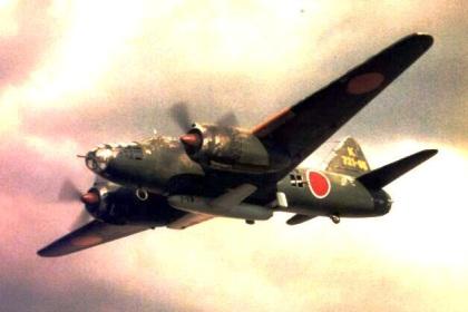 一式陸攻に懸吊された櫻花