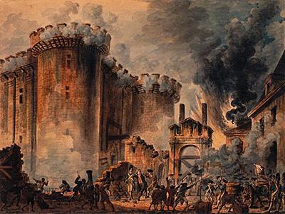 1789年7月パリ市民によるバスチーユ牢獄襲撃
