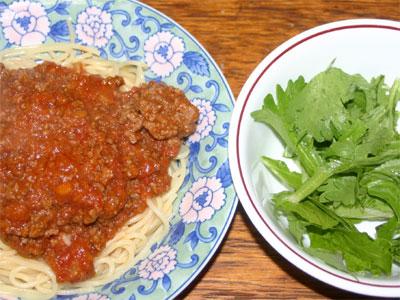 スパゲティミートソース4