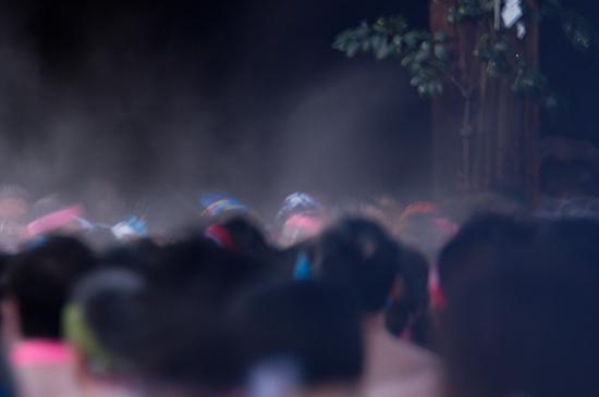 はだか祭の水蒸気