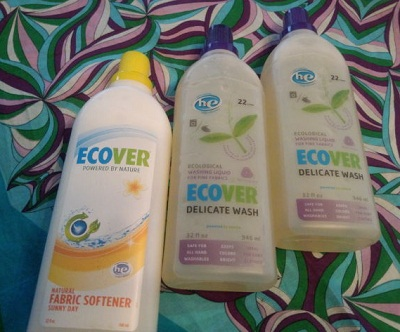ecoverの洗剤と柔軟剤