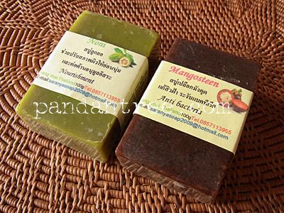 ノニ石鹸とマンゴスチン石鹸2