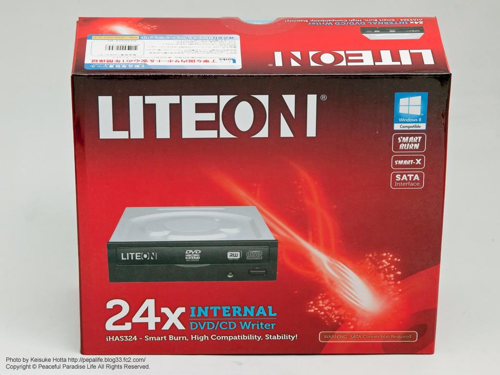 ITEON iHAS324-07 内蔵型DVDドライブ S-ATA接続