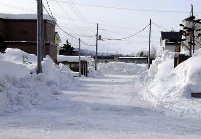 除雪後の道路