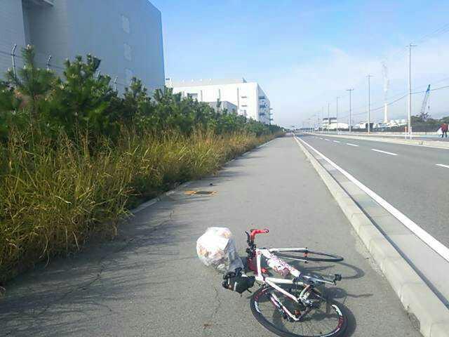 堺浜で走行マナーに意見&ゴミ拾い