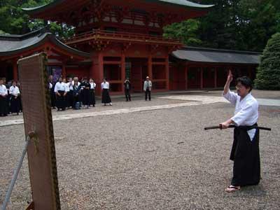 香取神宮での演武