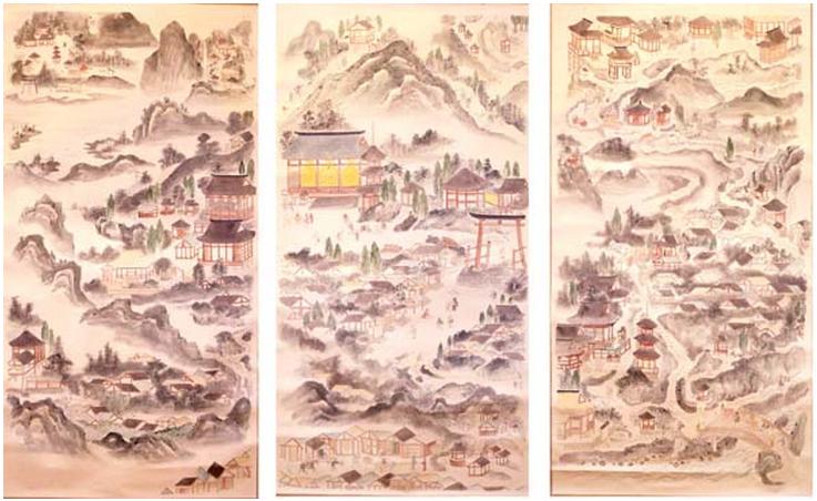 日光山古絵図