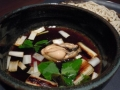 オイル牡蠣のつけ汁蕎麦