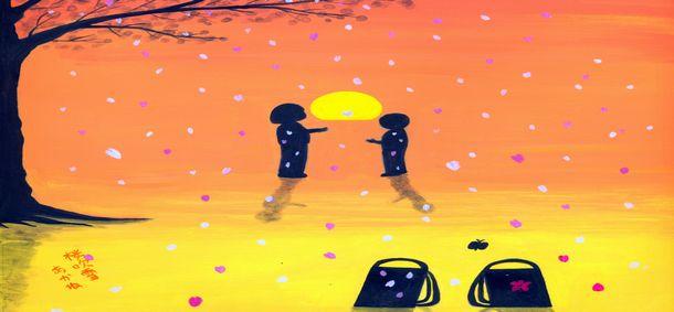 アート芸術系4コマ漫画「美観の人々」と童画 秋野あかね美術館ブログ